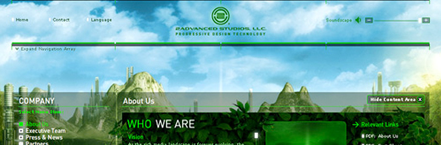 2Advanced Studios webdesign