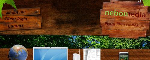 Le bois dans le webdesign