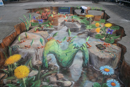 Ants Chalk Painting