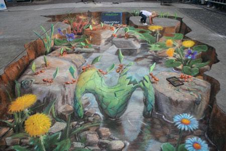 Ants Chalk Painting