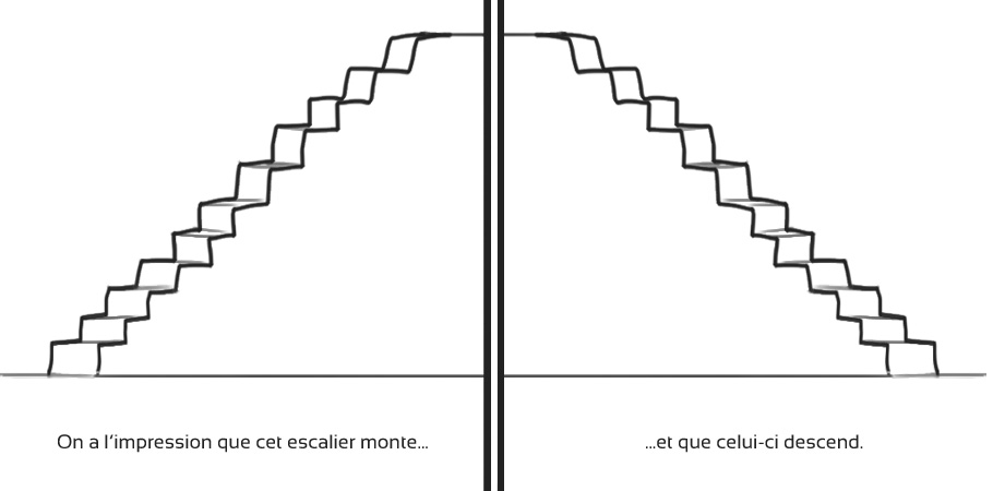 Composition : l'escalier monte-t-il ou descend-il ?