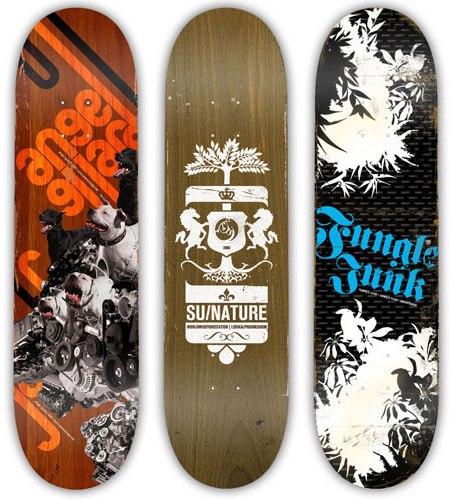 Skateboards designs