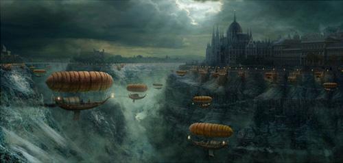 Fantasy view of Budapest