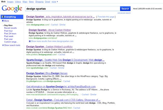 Nouvelle interface de Google