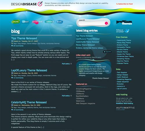 40 designs de blog