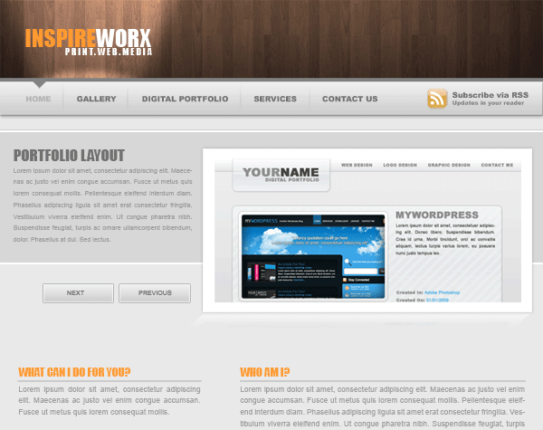 Web Design Layout #9 SiteBuild