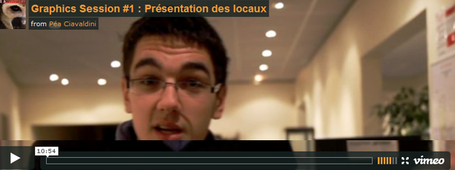 Video presentation des locaux de la graphics session