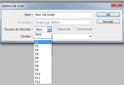 Astuce Photoshop #6 : Assigner un raccourci à un script