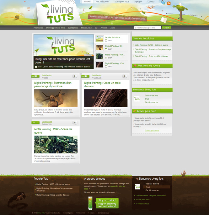 Webdesign de Living Tuts