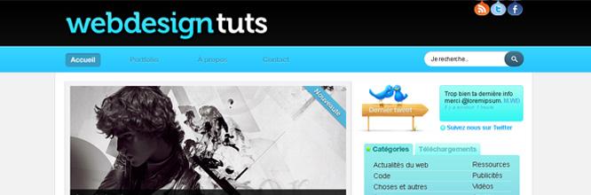 Webdesign : Créer un design bleu et aéré pour un blog