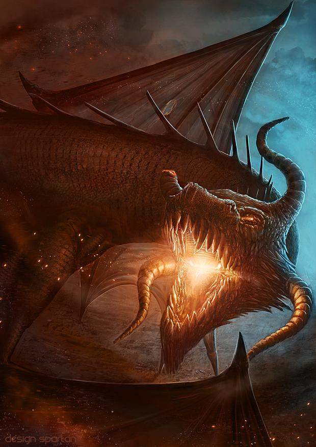 Dragon en plein combat
