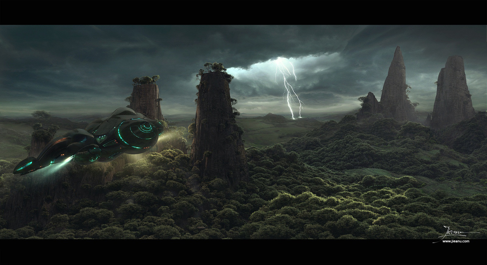 matte painter Dragos Jieanu