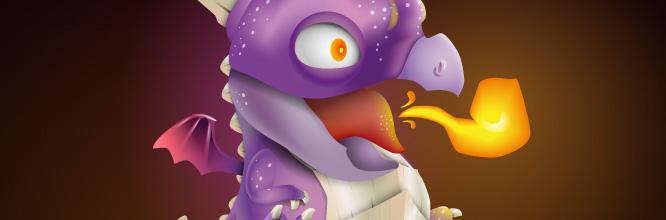 Mascotte cartoon : créez un bébé dragon sur Illustrator