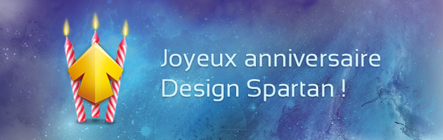 Design Spartan a 3 ans !