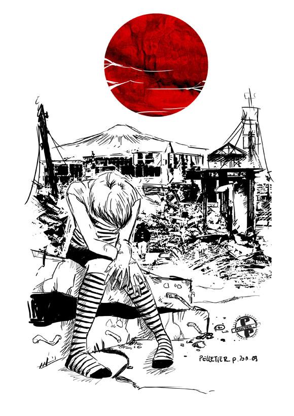Tsunami : des images pour le Japon