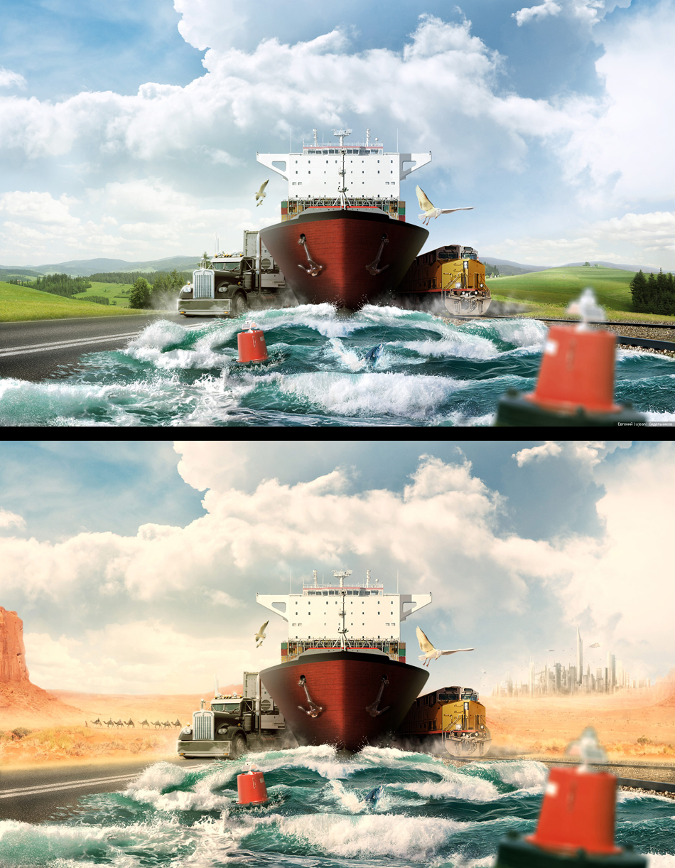 40 photomanipulations et matte paintings de Ujean & Glazyrin