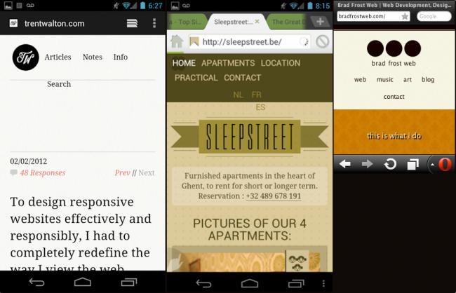 Responsive design navigation menu