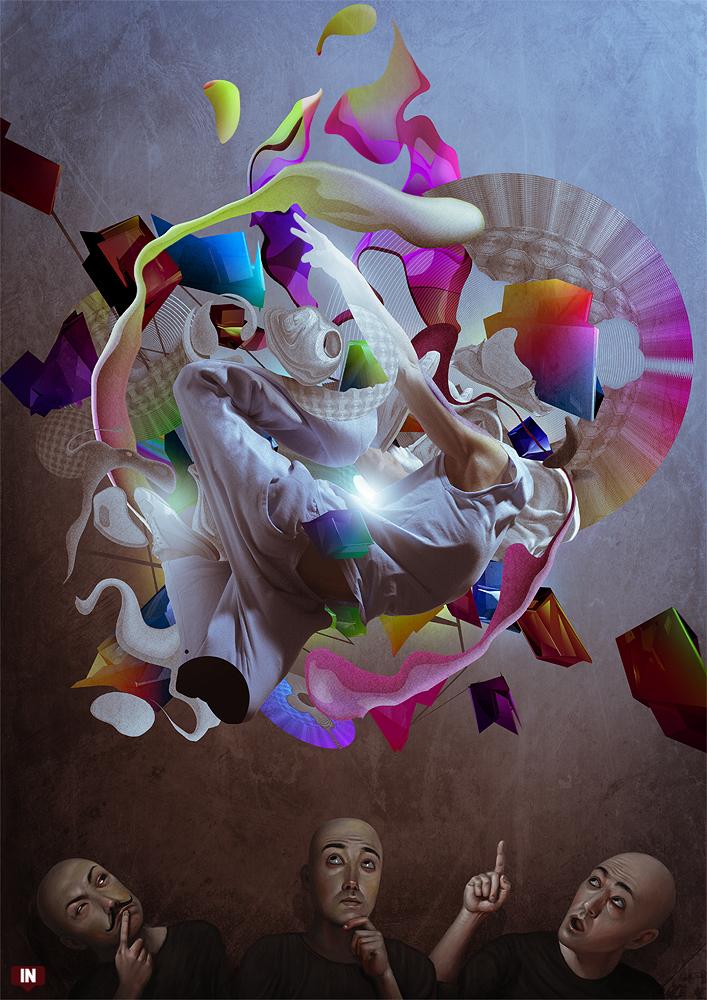 Les digital paintings fous de Martin de Diego Sádaba aka Almanegra