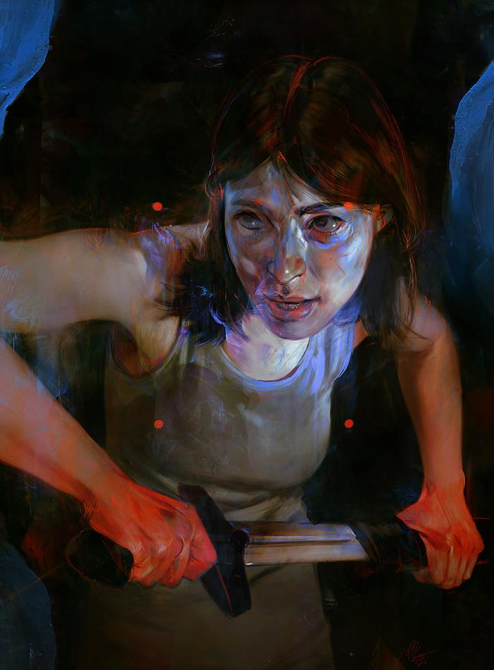 Les portraits en digital painting de Jeff Simpson