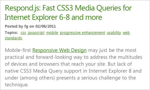 Outils pour le responsive webdesign