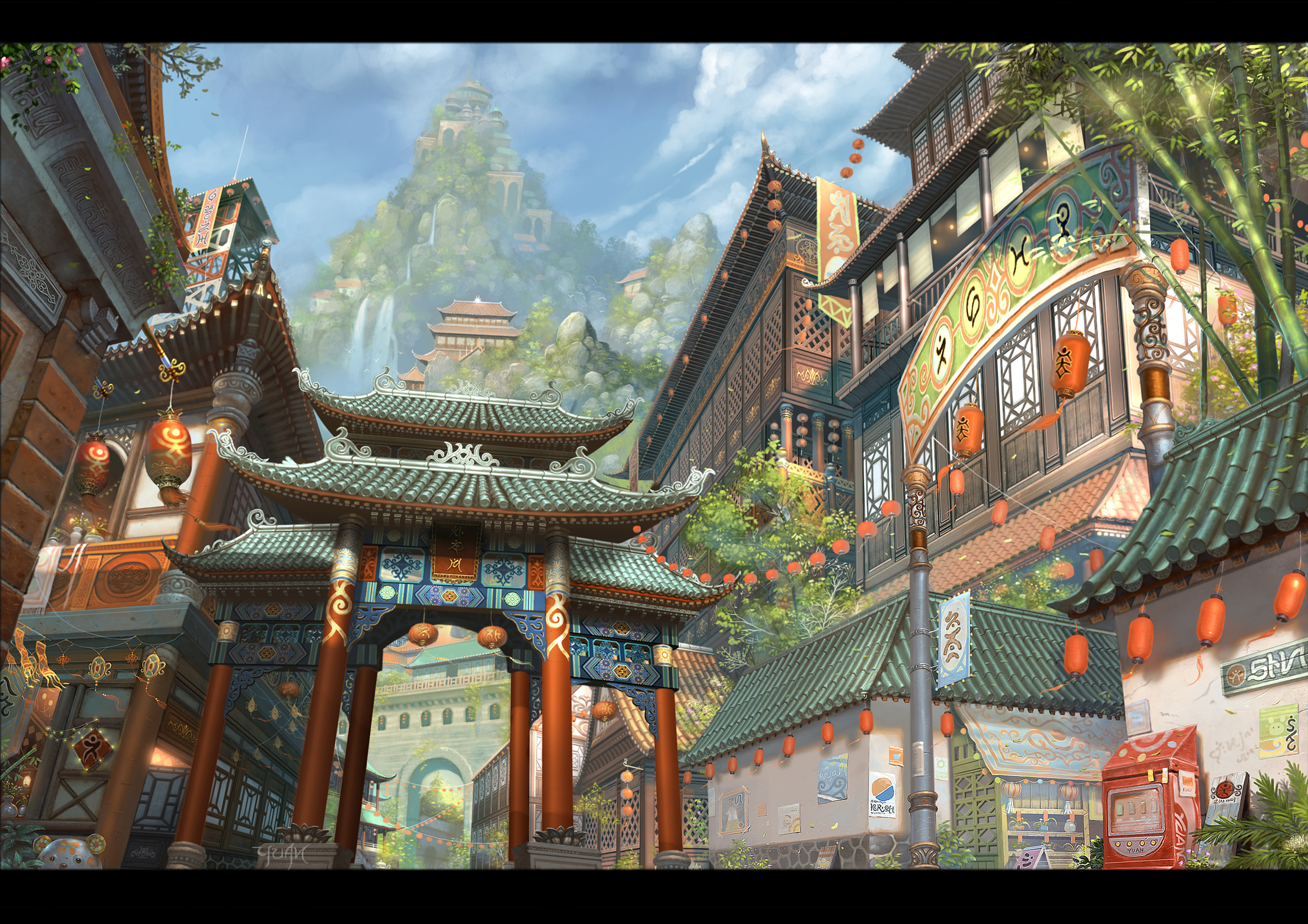 Les digital paintings de Chao Yuan Xu