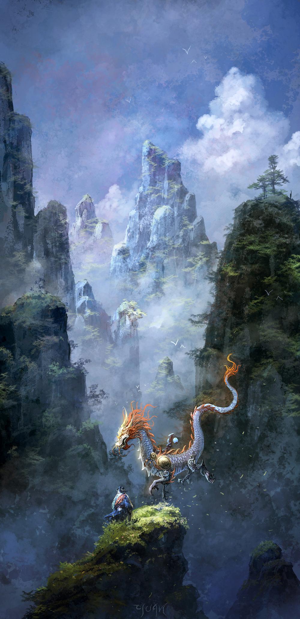 Les digital paintings de Chao Yuan Xu
