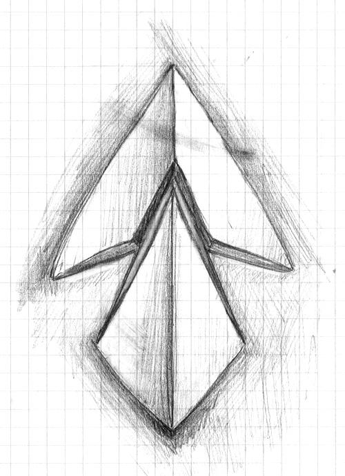 Croquis crayon du nouveau logo