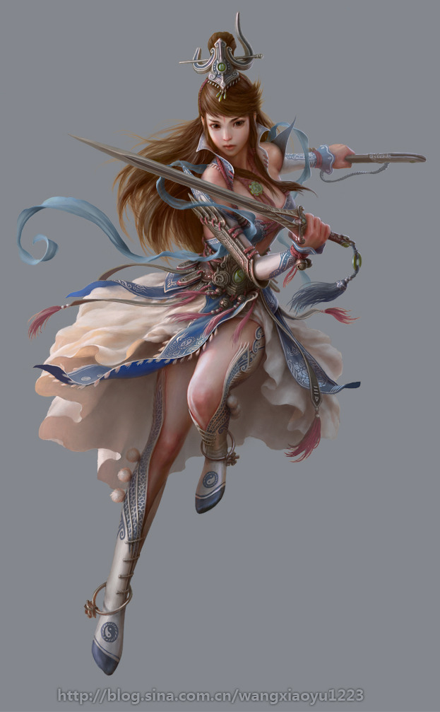 Les digital paintings de fantasy de Wangxiaoyu