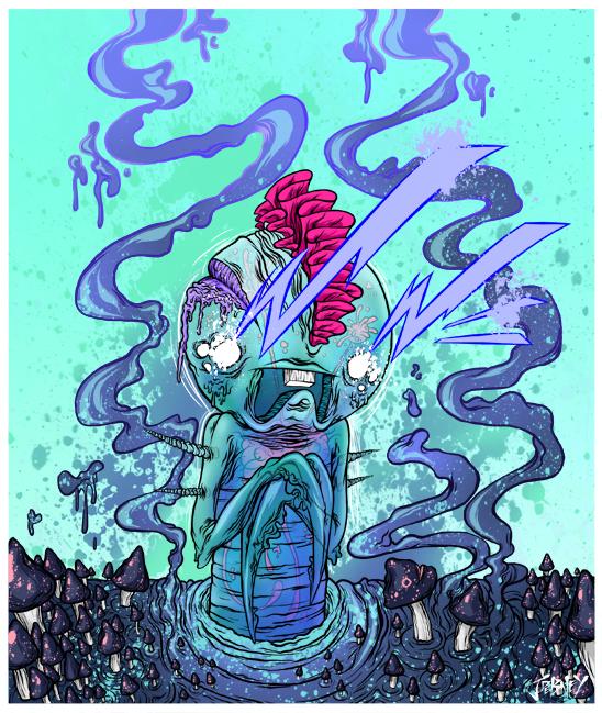 Les illustrations vectorielles hardcore de jordan Debney