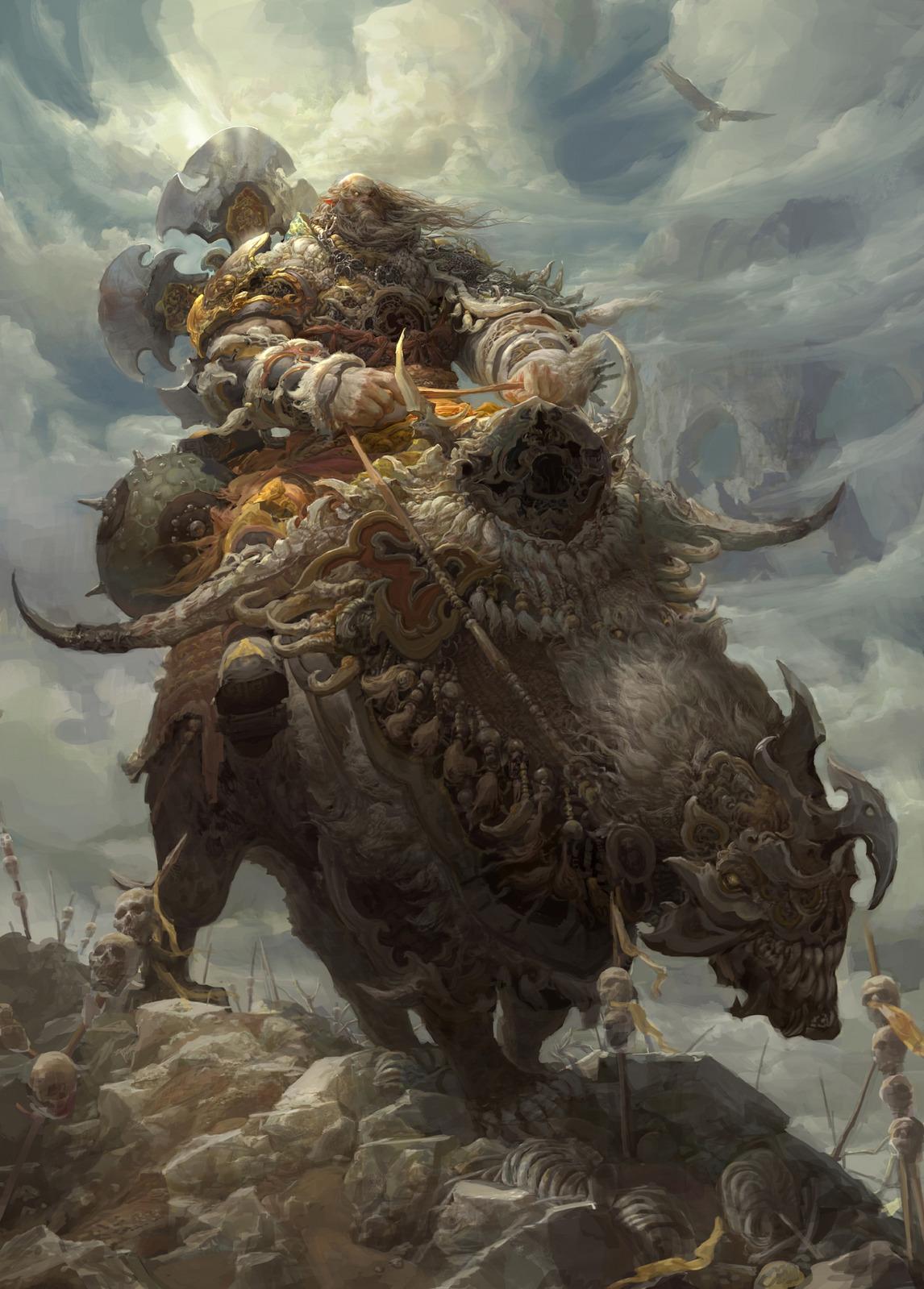 Les digital paintings de batailles épiques de Fenghua Zhong
