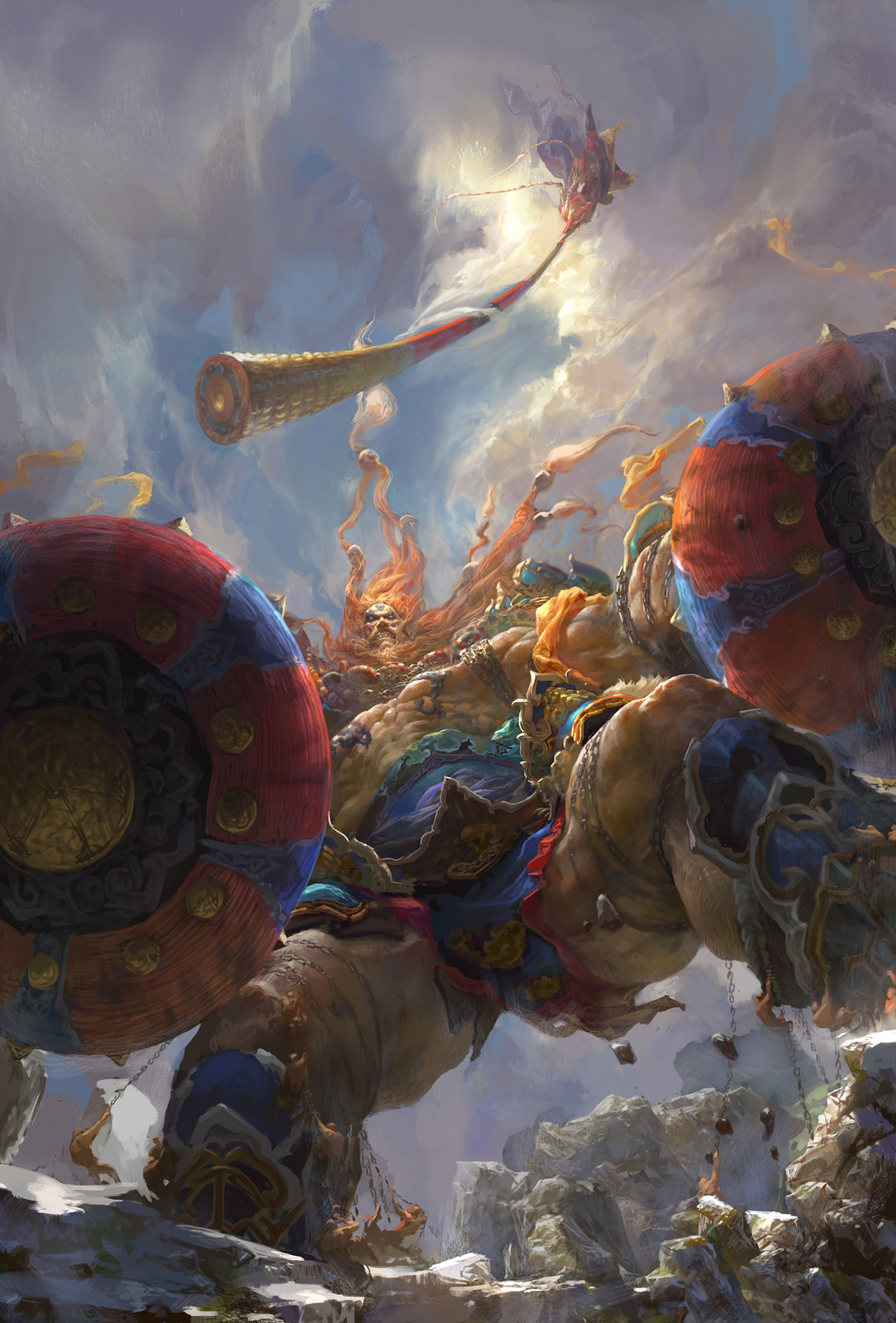 Les digital paintings de batailles épiques de Fenghua Zhong