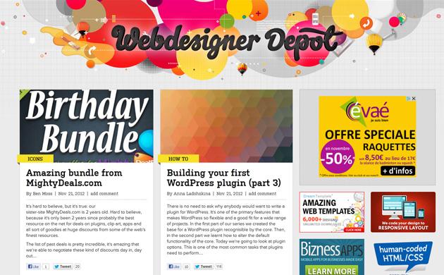 Webdesigner Depot : un redesign responsive réussi