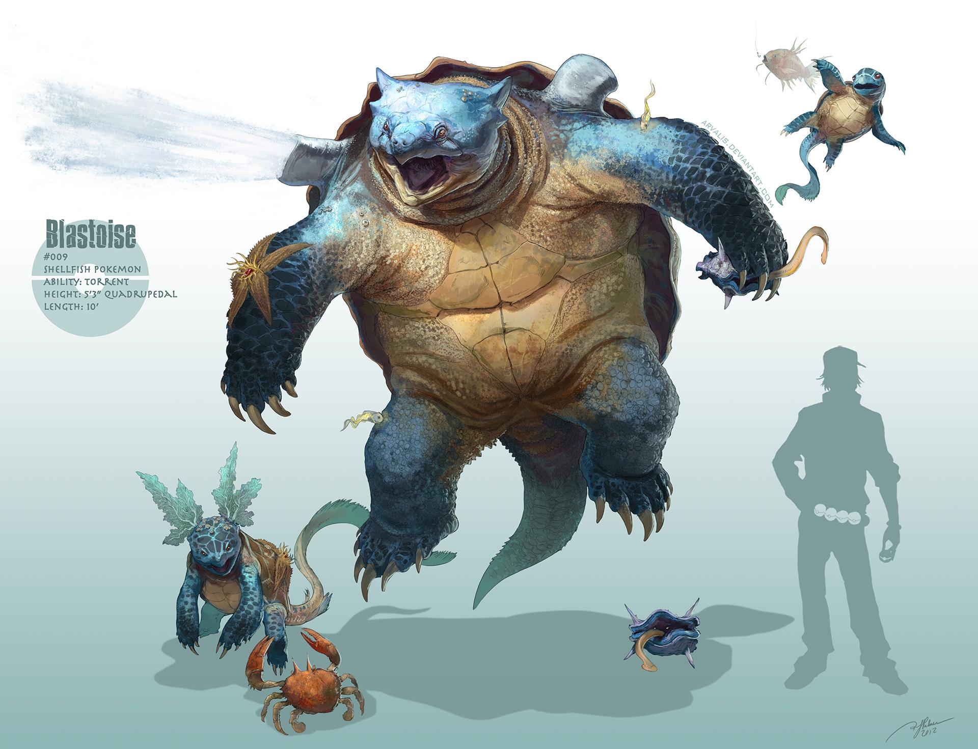Les Pokémons réalistes et autres digital paintings de RJ Palmer