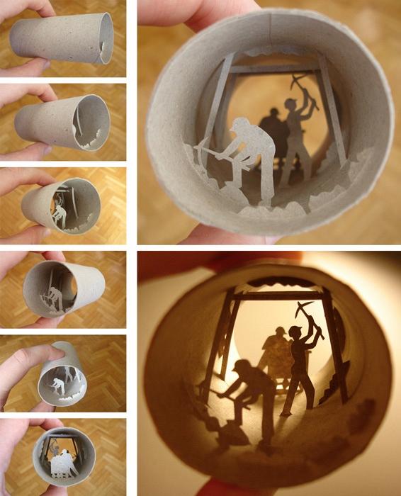 De l'art à partir de rouleaux de papier toilette