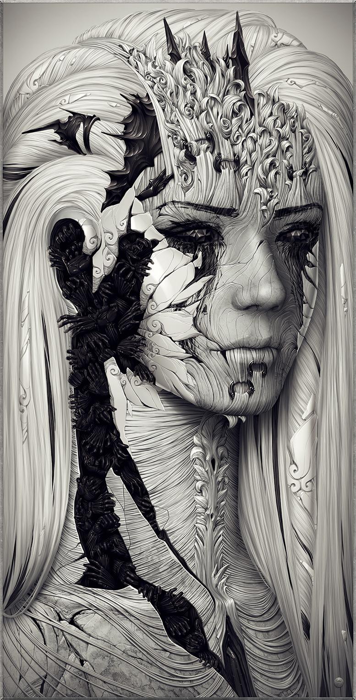 Les digital paintings incroyables d'Alexander Fedosov aka Hollllow