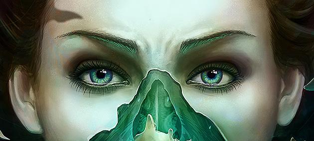 Zoom sur «New Skin», digital painting de Spartan pour DACS et Slashthree