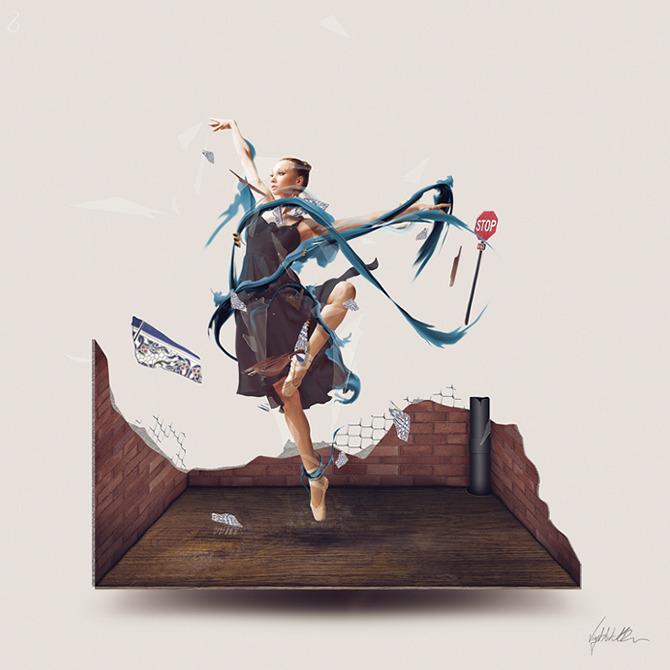 Les créations d'art digital de David Delin aka 28162