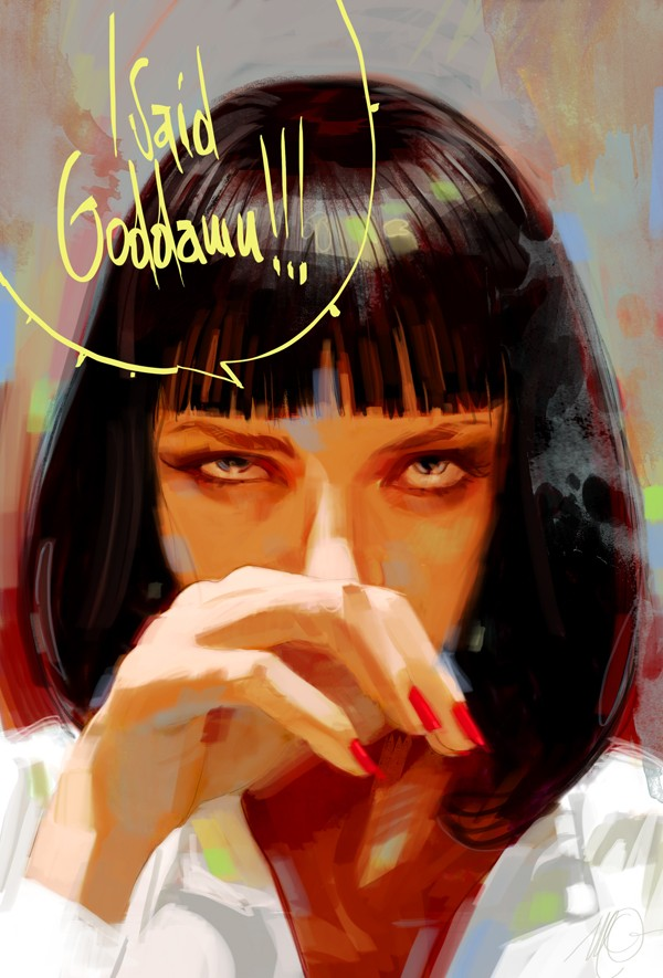 100+ Digital paintings de personnages et scènes de films cultes