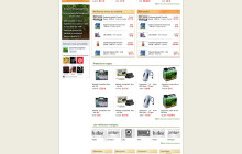E-commerce web design commissioned by Zone Aquatique