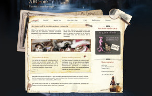 ABCrime web design