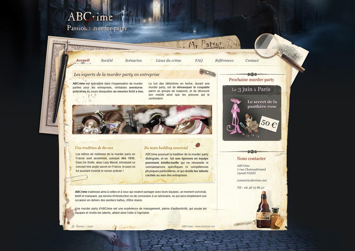ABCrime web design