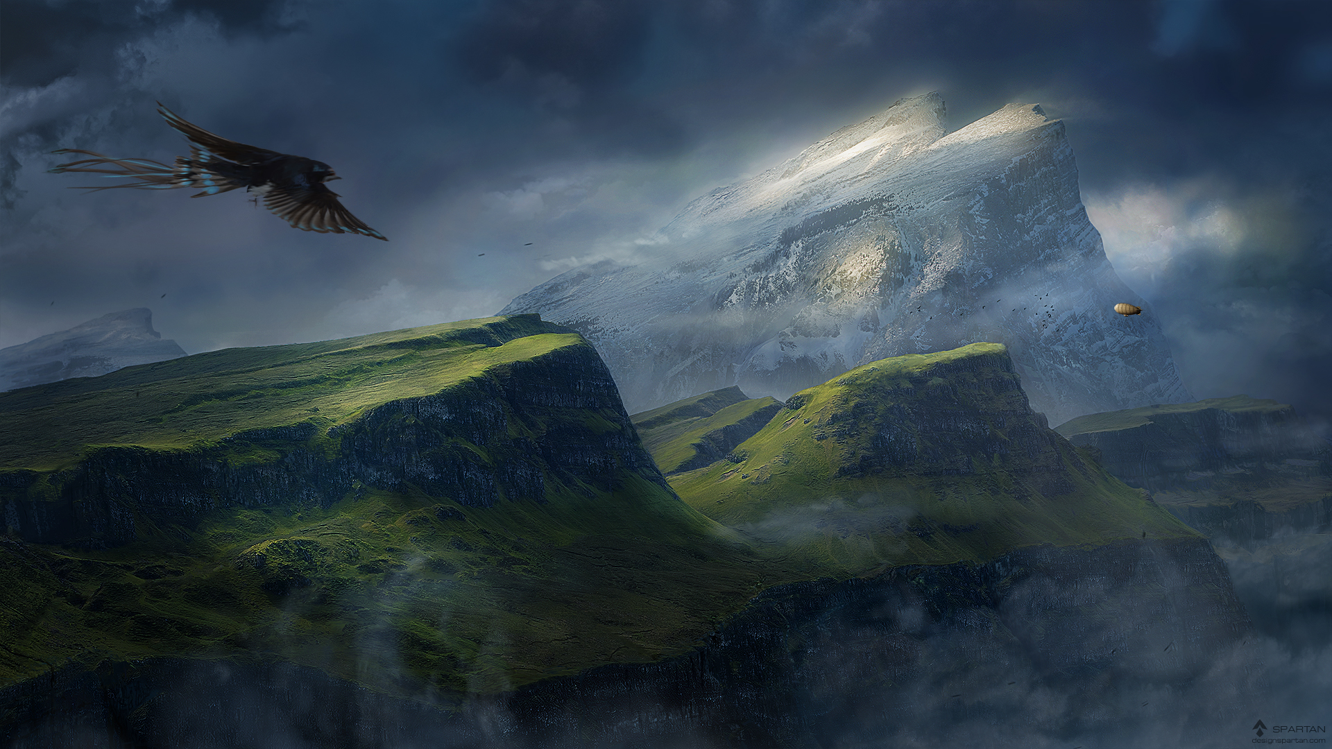 Desktopography 2012 matte painting