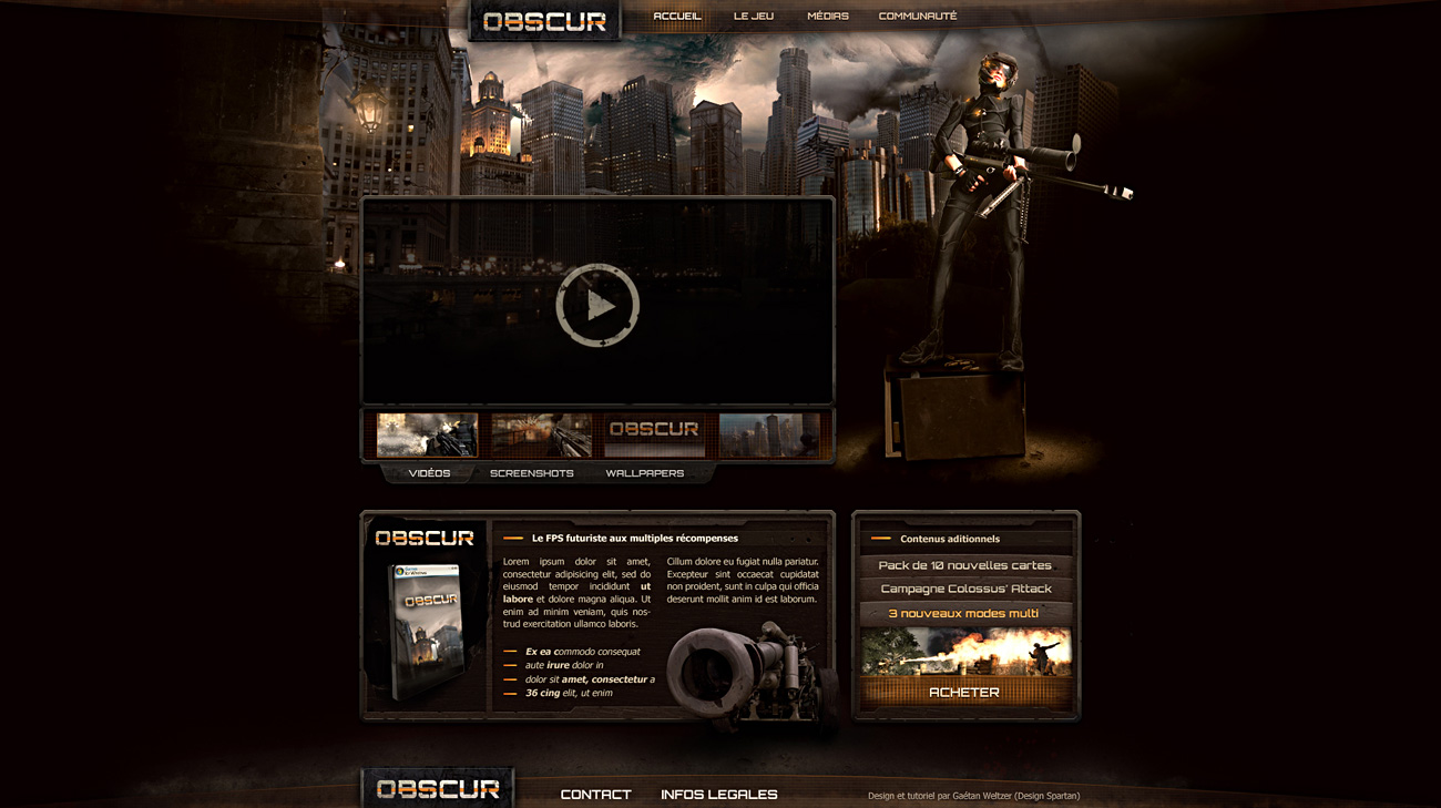 Obscur web design