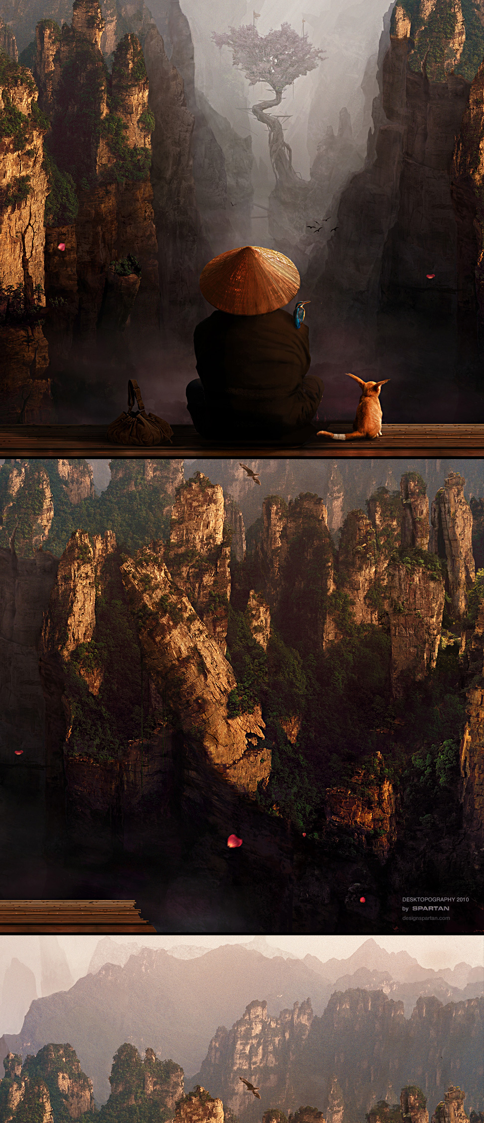 Desktopography matte painting close ups