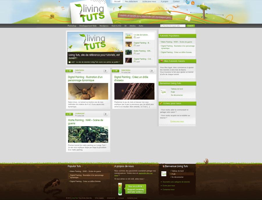 Living Tuts web design