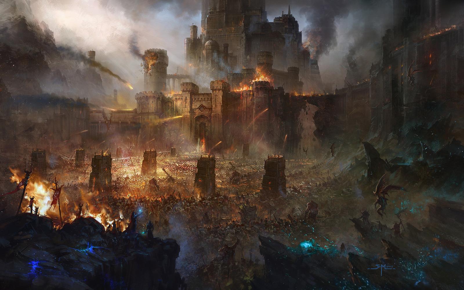 Les environnements spectaculaires en digital painting de Fan Ming