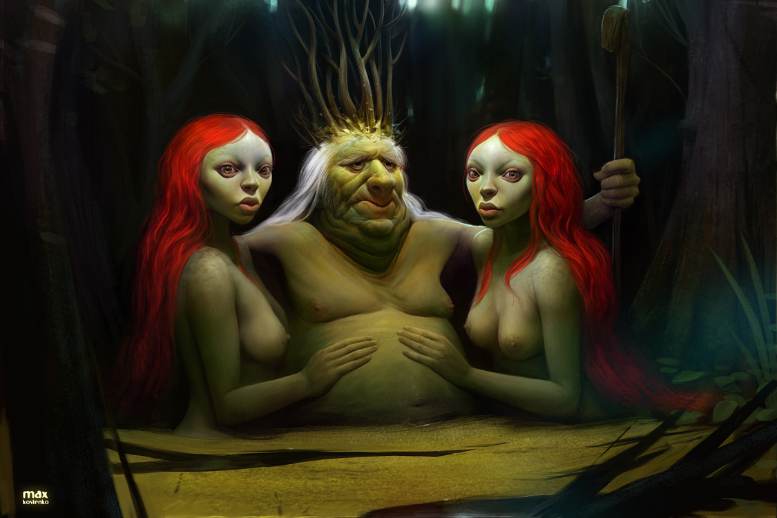 Les digital paintings amusants et splendides de Max Kostenko