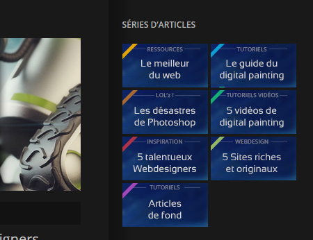Série d'articles facilement accessibles