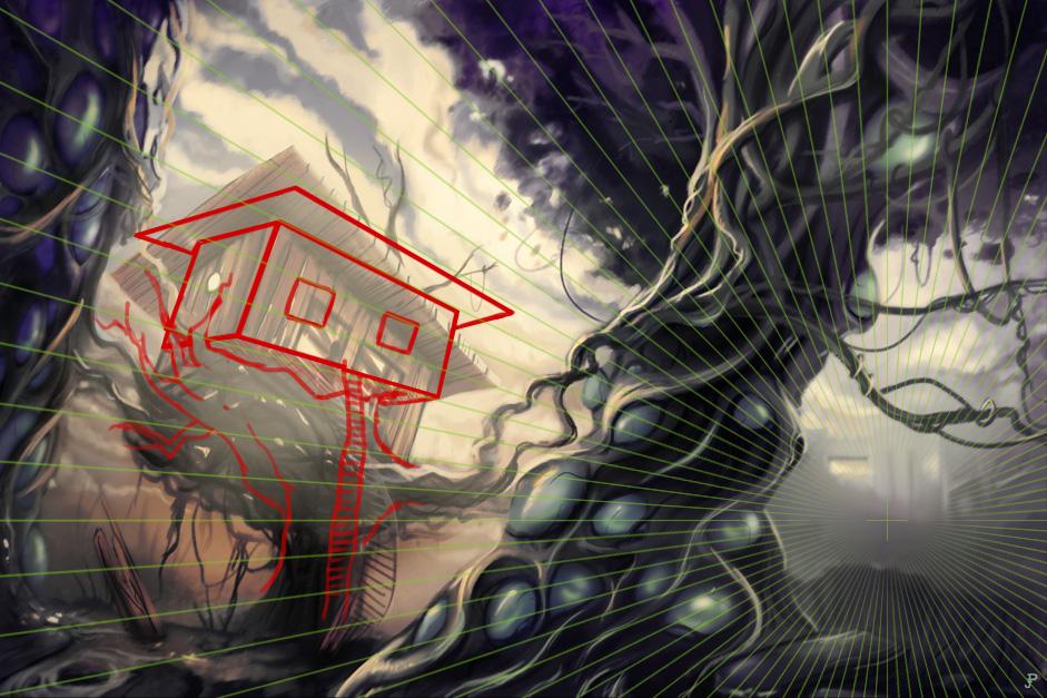 Critique digital painting - perspective