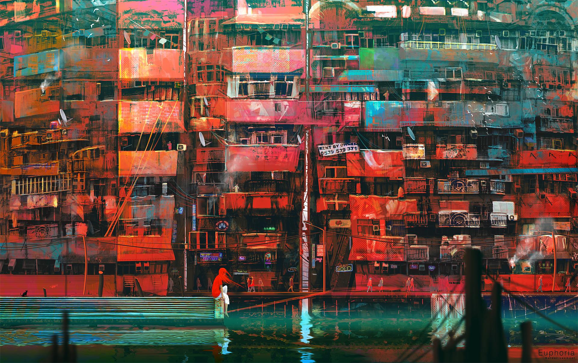 Kuldar Leement matte painting